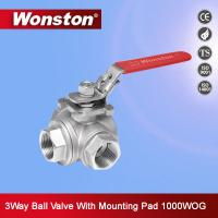 Quality 3 Way Ball Valve With Mounting Pad 1000 WOG wholesale