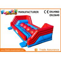 Cheap Interactive 0.55mm PVC Tarpaulin Inflatable Sports Games / Inflatable Wipeout for sale