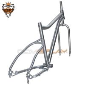 China Ti3AL2.5V  Ti6AL4V Titanium Bike Frame , Fat Bike Frameset For Winter on sale
