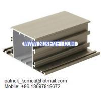 China anodized champagne aluminum extrusion profiles for windows and doors on sale