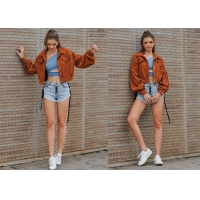 China OEM Corduroy Short S XL Multi Color Women Jacket on sale