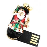 Quality Santa Claus Shape Jewelry USB Flash Drive, Promotional Diamond USB Drives wholesale