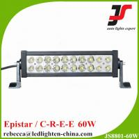 Quality 11.5 inch 60W offroadled light double row straight epistar led light bar wholesale