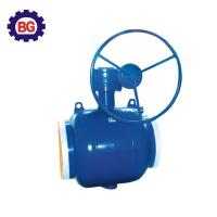 China Factory Direct Sale Welding Type Worm Gear Fully Welded Ball Valve on sale