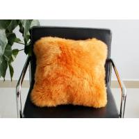 Quality Long Wool Decorative Pillows For Couch , Chair Brown Fur Throw Pillows Cover wholesale