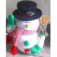 Quality Cute Custom Design Personalised Christmas Gifts of Snowman Toy with Black Hat wholesale