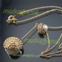 China Gold plated necklaces on sale