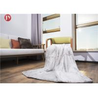China Cozy White Faux Throw Blanket , Plush Throw Blanket Bedding Decor Rectangular on sale