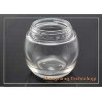 Quality 100ml clear spherical glass bottle with screw neck , D73.5mm×H67mm wholesale