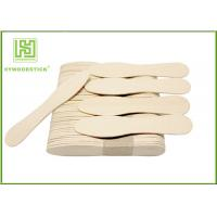 Quality Eco - Friendly Birch Wooden Ice Cream Spoons Customized Logo And Package wholesale