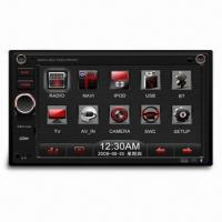 Quality Car Radio with 6.2-inch WVGA TFT LCD Fixed Panel and Built-in Navigation, Supports Bluetooth wholesale