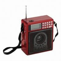 China Portable Radio with USB/SD, 1,200mA Built-in Rechargeable Battery, 3W Speaker and Good Torch on sale