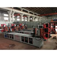 China Assemble Shelf Auto Pipe Welding Machine 3 Faces / 4 Faces Goods Shelf Beam Welding on sale