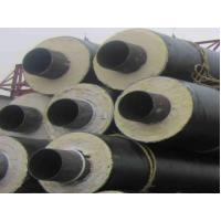 China Black PU Foam Thermal Insulated Steel Pipe A53 A , B For Petroleum , Thick Wall on sale