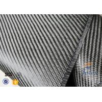 Quality 3K 200g 0.3mm Twill Weave Carbon Fiber Fabric For Reinforcement , Thermal Insulator Materials wholesale