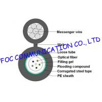 Quality Loose Tube self supporting aerial cable GYXTC8S / outdoor armored fiber optic cable wholesale