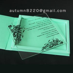 Quality wedding invitation plastic wholesale