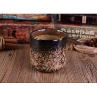 Quality Leopard Print Transmutation Ceramic Candle Holder For Scent Candle , Round Bottom wholesale