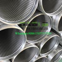 Cheap All-welded stainless steel continuous slot water well screens for sale