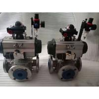 China Pneumatic ball valves actuator pneumatically operated ball valve on sale