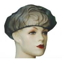 Buy cheap Nylon Mesh Soft Disposable Head Cap , Black Medical Mesh Elastic Hat from wholesalers