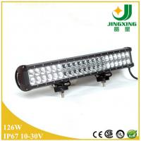 Quality 22 inch double row offroad led light bar 126w low profile led light bar wholesale
