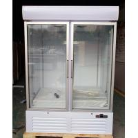 Quality Free Standing 2 Door Glass Display Freezer Fridge With Fan Cooling System wholesale