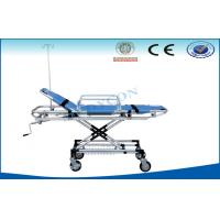 China Hospital Ambulance Stretcher Trolley , Rise-And-Fall Emergency Bed on sale