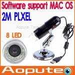 Quality Listing 2 million pixels 8 LED USB Digital Microscope Endoscope 2 million pixels magnifier 20X~200X support MAC OS wholesale