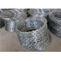 Quality 900mm Coil Hot Dipped Galvanized Razor Barbed Wire Mesh , Concertina Razor Wire wholesale