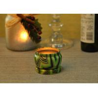 Quality Eco Friendly Tin Candle Holders Anti Thermal Candle Wax Shock Resistant wholesale