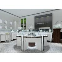 Quality Modern White Color Round Circle Jewellery Display Counter / Retail Display Cases wholesale