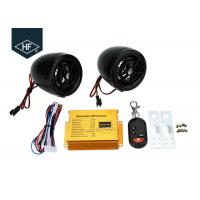 Quality Car Audio ABS Electric Motorcycle Parts , Motorcycle Alarm System MP3 FM Radio Stereo Speaker Music wholesale