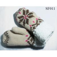 Quality girls' beautiful style acrylic mitten SF011 high quality and good price children mittens wholesale
