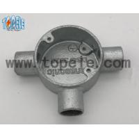 Quality Aluminum / Malleable Iron BS4568 Conduit Three Way Junction Box Long Life Time wholesale