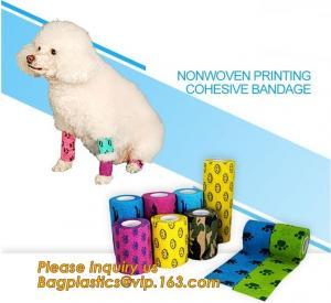 Quality Cohesive Flexible Bandage Cotton Cohesive Bandage sports tape Mixed Color Self Adhesive elastic bandage bagplastics pac wholesale