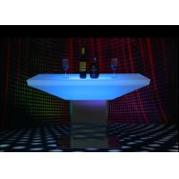 Quality Glowing Illuminated Bar Tables 15 Colors Metal Stand 12 Months Warranty wholesale