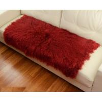 Quality 10 -15cm Wool Large Sheepskin Area Rug , Sheepskin Runner Rug For Home Sofa Seat Cover wholesale