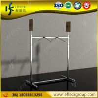 Quality Portable and adjustable metal folding clothing display stand for garment store wholesale