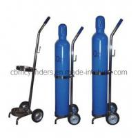 China Portable Oxygen Cylinder Trolleys for Small Gas Cylinders on sale