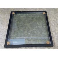 Quality Insulated Glass Panels With Black Frame / Sound Proof Insulated Replacement Glass wholesale