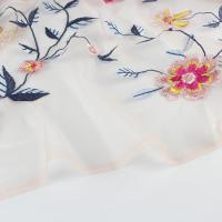 Quality Guipure Multi - Color Embroidered Lace Fabric 130CM Width For Apparel wholesale