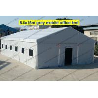 China Emergency Gray PVC Military Army Tent 8.5 x 15m With Rolling Windows And Doors on sale