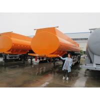 China CIMC 30m3  stainless steel oil tank trailer for palm oil and coal tar transportation on sale