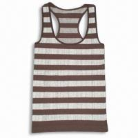 China Women's Seamless Tank Top with Jacquarded Stripes on sale
