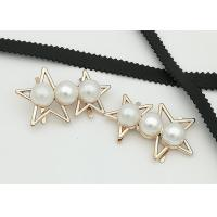 Quality Star Shaped Zinc Alloy Metal Shoe Buckles Corrosion Resistant Easy To Put On wholesale