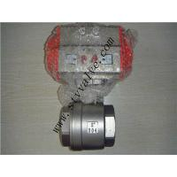 Quality CE approved 2pc screwed stainless steel ball valve with pneumatic actuator wholesale