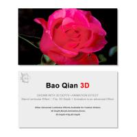Quality 0.6mm Thickness 89x68mm 3D Lenticular Card 3D Flip Changing Effect wholesale