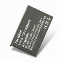 Quality Rechargeable Li-ion Digital Camera Battery (3.7V 750mAh) Comparable to Casio NP20 wholesale