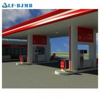 Quality Hot Sale Prefab Light Steel Space Frame Structural Petrol Gas Filling Station Canopy Roof Structural Design wholesale